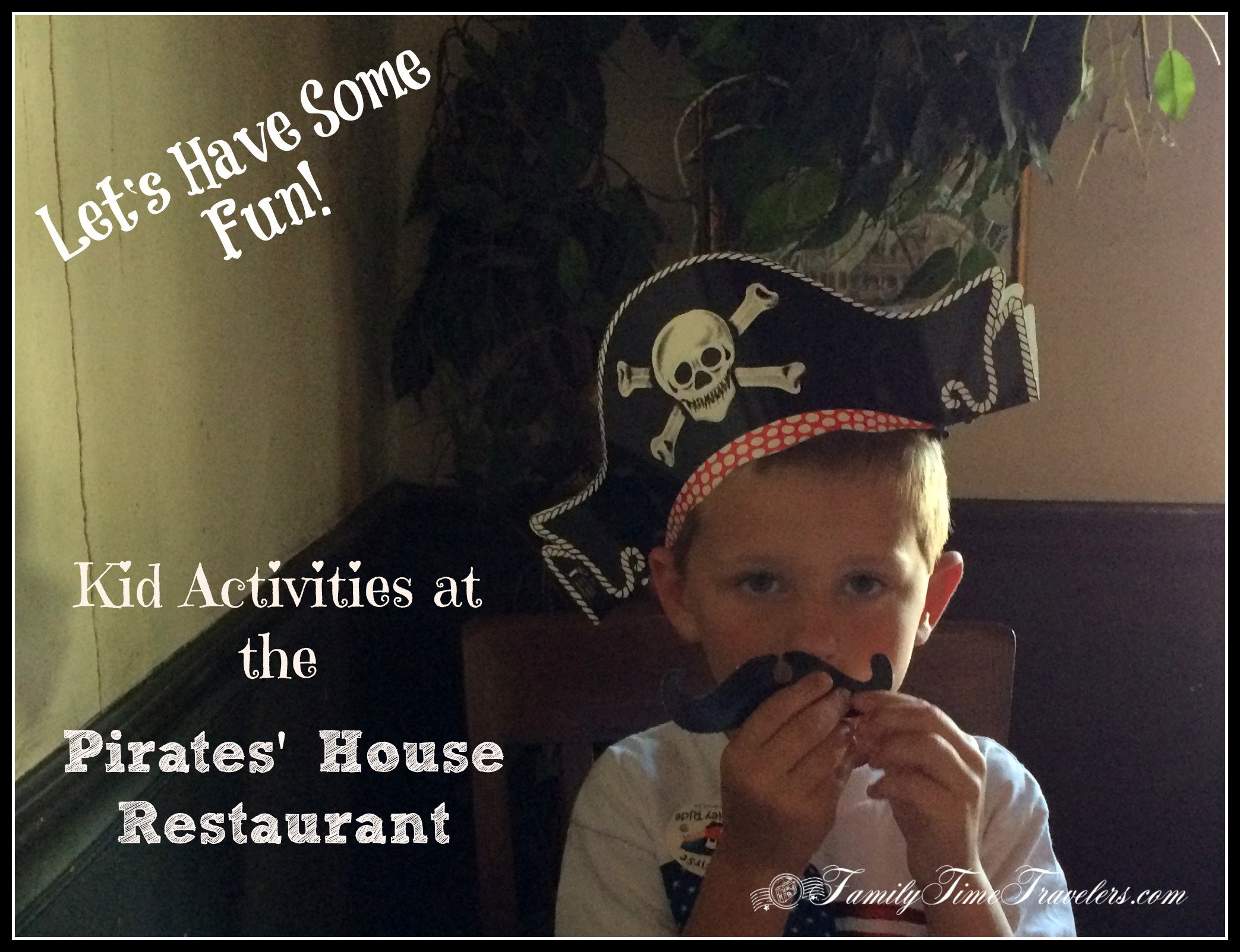 Kid Activities - Pirates's House Restaurant in Savannah, GA. by Family Time Travelers. Let's have some fun with history!